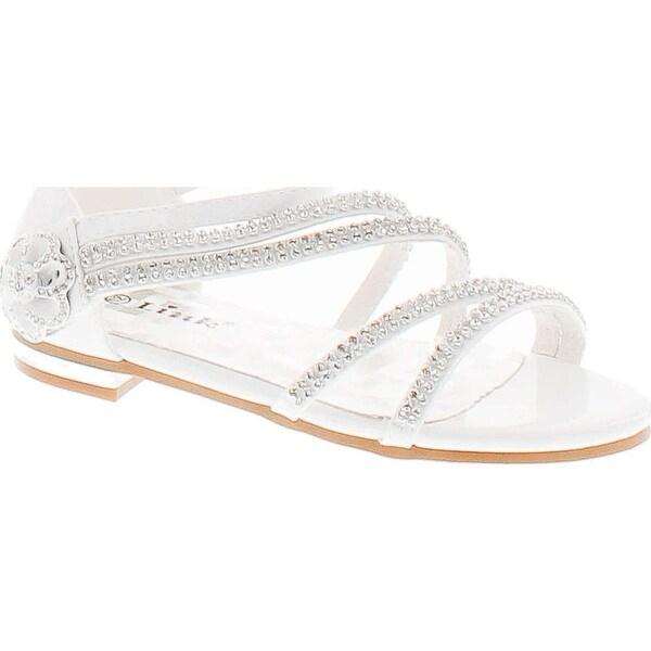 Forever Nora-68K Girls Open Toe Flat Wedding Party Dress Sandal Shoes