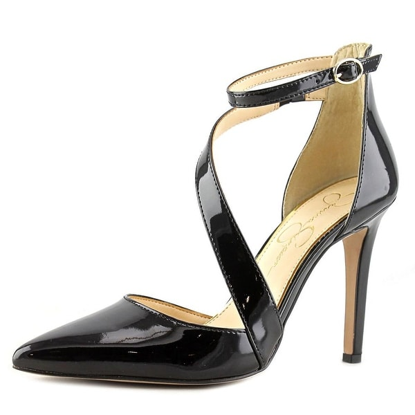 Jessica Simpson Castana Women  Pointed Toe Patent Leather Black Heels