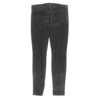 Joe's Womens Skinny Jeans Slim Fit Coated