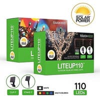 LITEUP110 Solar LED String Lights Outdoor Holiday Lights