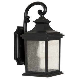 "Craftmade Z3204-11 Gentry Single Light 13-5/8"" High Outdoor Wall Sconce with Clear Seeded Glass"