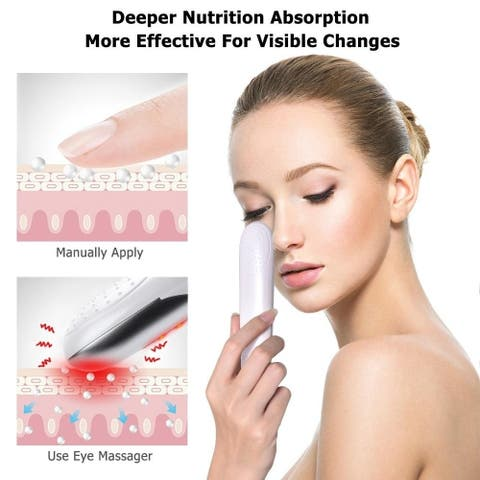 Mini Electric Vibration Eye Face Ems Red Light Therapy Anti-Ageing Wrinkle Dark Circle Removal