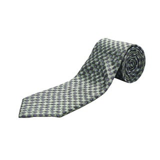 Ermenegildo Zegna Men Slim Silk Neck Tie Green Blue