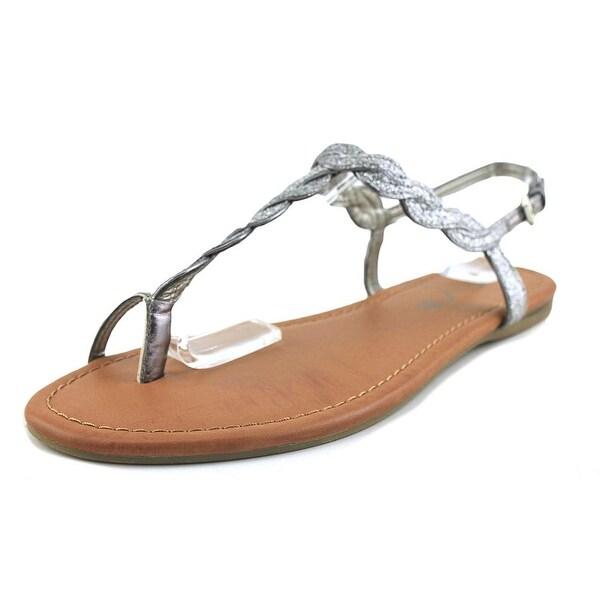 Unisa Luzala 2 Women Open-Toe Synthetic Gray Slingback Sandal