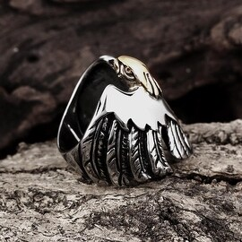 Vienna Jewelry Citrine Gem Stainless Steel Ring