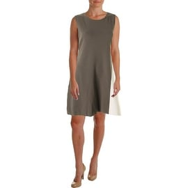 Theory Womens Sleeveless Colorblock Wear to Work Dress - L