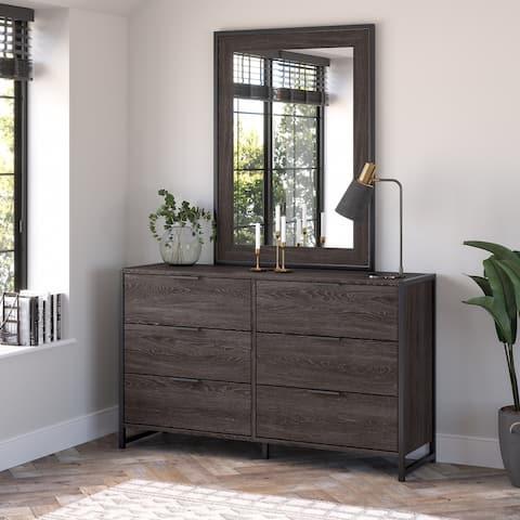 Atria 6 Drawer Dresser with Mirror by Bush Furniture