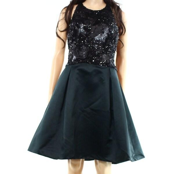 Lauren Ralph Lauren NEW Black Women\'s Size 14 Sheath Sequin Dress ...