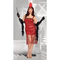 Plus Size Ain't She Sweet Flapper Costume, Plus Size Flapper Costume