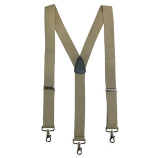 CTM® Men's Big & Tall Elastic Solid Color Y-Back Suspender with Swivel Hook Ends - One size