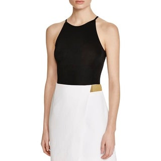 French Connection Womens Delilah Bodysuit Sleeveless Jersey - m