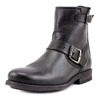 Frye Tyler Engineer Round Toe Leather Ankle Boot