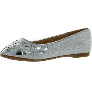 Lj-Adorababy Girls Ba0036 Dress Shoes With Perforation And Rhinestones