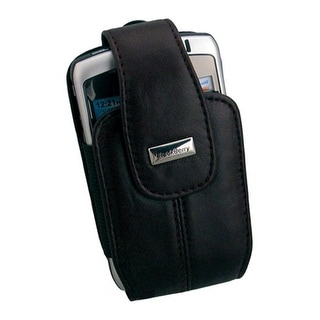 Leather Holster with Magnetic Clasp/Clip-On Wristlet for BlackBerry Curve 8330 (