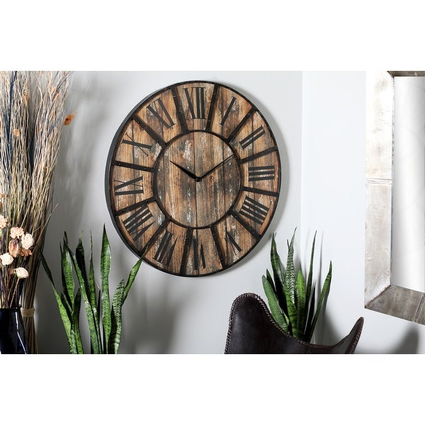Carbon Loft Daffodil Black and Brown Clock. Opens flyout.