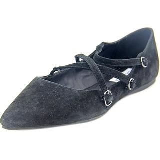 Steve Madden Edggy   Round Toe Leather  Flats