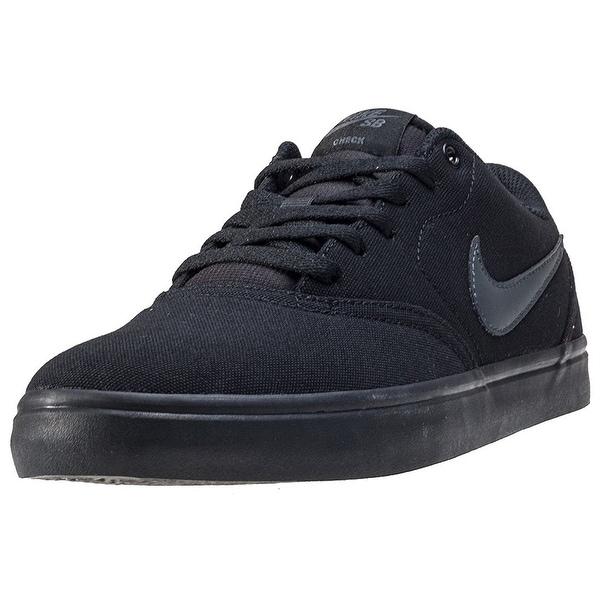 b966b40d41c41 Nike Men's SB Check Solarsoft Canvas Skate Shoe Black/Anthracite