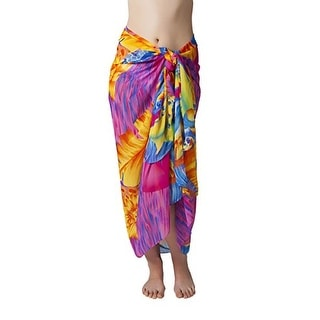 Swimsuit Sarong Cover up in Bright Hawaiian Floral Print