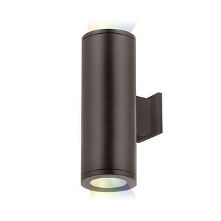"""WAC Lighting DS-WD05-NS-CC Tube Architectural ilumenight 2 Light 12-1/2"""" Tall Integrated LED Outdoor Wall Sconce with Narrow"""