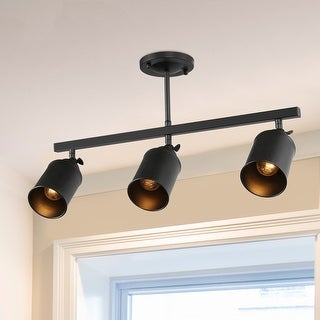"Link to Modern 3-lights Spotlight Semi-Flush Mount Ceiling Simple Tracking Lights - L 22.5 ""x W 5.1"" x H 13.6"" Similar Items in Track Lighting"