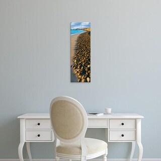 Easy Art Prints Panoramic Image 'Pebbles, Beach, Cabo Pulmo Marine Park, Baja California Sur, Mexico' Canvas Art