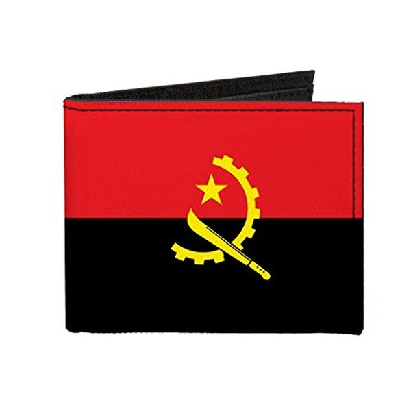 Buckle-Down Canvas Bi-fold Wallet - Angola Flag Accessory