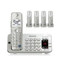 Panasonic KX-TGE275S 5-Cordless Handsets Link2Cell Corldess Phone w/ Answering Machine,Silver