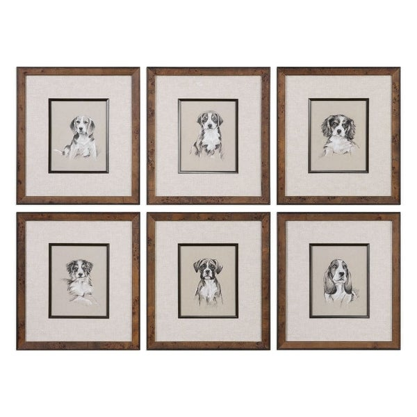 Uttermost 33665 19 Inch X 17 Small Breed Sketches Framed Art Prints On