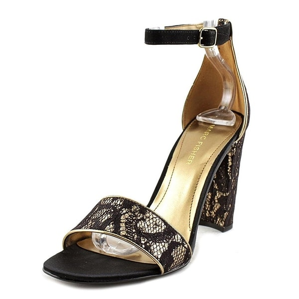 Marc Fisher Womens Factor2 Fabric Open Toe Casual Ankle Strap Sandals