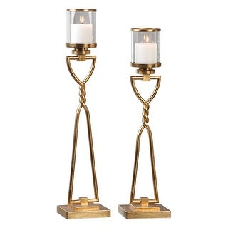 Set of 2 Susana Gold Candleholders 28.25