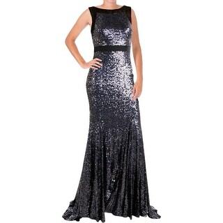 Badgley Mischka Womens Mesh Prom Semi-Formal Dress