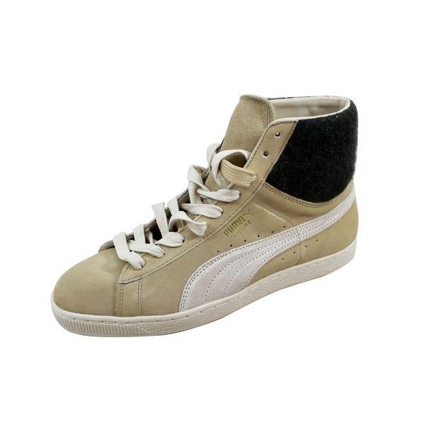 Puma Men's Suede Mid City Semolina/White Swan355374 03