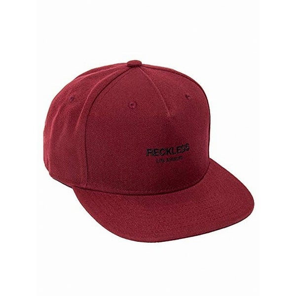 reputable site 9ac2b a2548 Shop Young   Reckless Red Burgundy Classic Adjustable Snapback Baseball Cap  291 - Free Shipping On Orders Over  45 - Overstock - 22372104