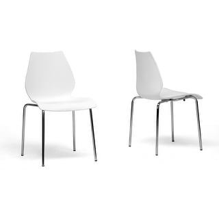 Overlea White Plastic Modern Dining Chair  - 2 Chairs