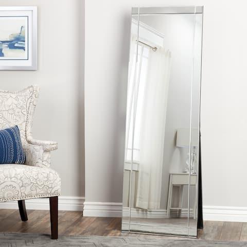 Abbyson Clarendon Silver Glam Standing Full-Length Floor Mirror