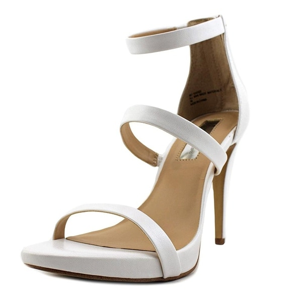 INC International Concepts Womens Sadiee Leather Open Toe Casual Ankle Strap ...