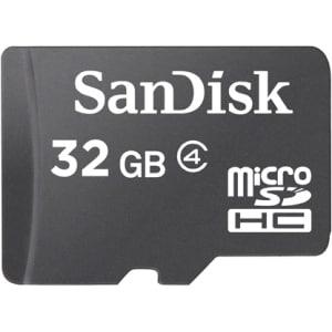 SanDisk SDSDQ032GA46AM microSDHC 32GB Memory Card W/Adapter