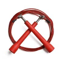 ODOLAND Jump Rope Speed Rope Adjustable 10ft Best for Fitness Training Cross Red