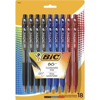 BIC BU3 Ballpoint Pen, 1 mm Medium Tip, Assorted Colors, Set of 18