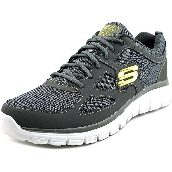 Skechers Burns-Agoura Men Round Toe Leather Gray Walking Shoe