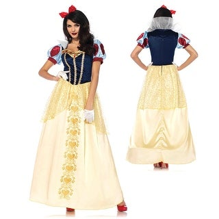 Womens Deluxe Snow White Ball Gown Costume