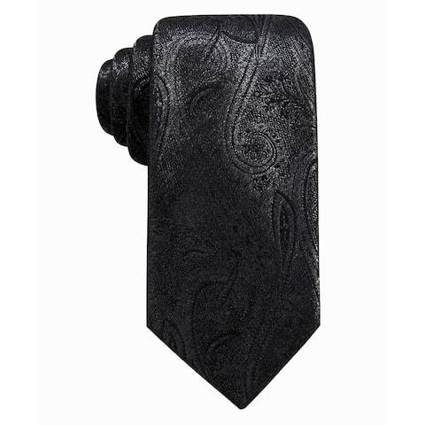 Ryan Seacrest Distinction Men's Felipe Slim Paisley Tie Black Size Regular