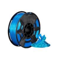 Monoprice Hi-Gloss 3D Printer Filament PLA 1.75mm - 1kg/spool - Light Blue, Works With All PLA Compatible 3D Printers