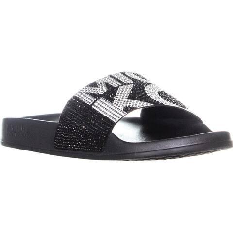 MICHAEL Michael Kors Gilmore Slide Sandals, Black/Optic White