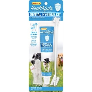 Ruffin' It Healthful Dental Hygiene Kit-Enzymatic Toothpaste/Brush