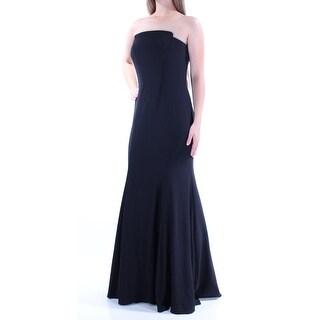 Womens Black Full Length Mermaid Prom Dress Size: 10