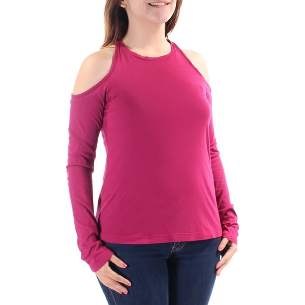 2b14bcc785b662 Shop Womens Pink Long Sleeve Jewel Neck Top Size S - Free Shipping On  Orders Over $45 - Overstock - 21274042