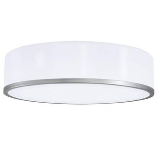 """Norwell Lighting 5636 Meridian Single Light 16"""" Wide LED Flush Mount Ceiling Fixture with Shiny Opal Shade"""