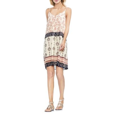 Vince Camuto White Women's Small S Floral Print V-Neck Slip Dress
