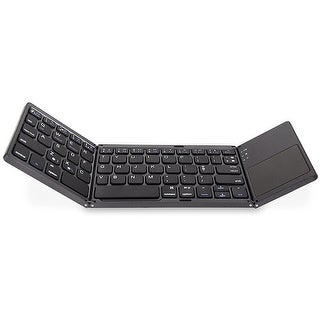 HLOIPYUR Foldable Wireless Bluetooth Keyboard with Touchpad for Ipad//iPhone//MacBook//PC Computer//Android Tablet